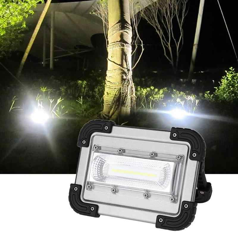 Portable Handheld 30w 2400lm COB LED Work Light 4 Modes USB Rechargeable Waterproof Spotlight for Outdoor Camping Fishing