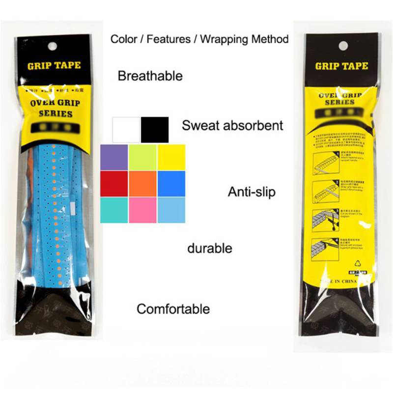 Absorb-Sweat Racket Anti-slip Tape Handle Grip For Tennis Badminton Squash Bands