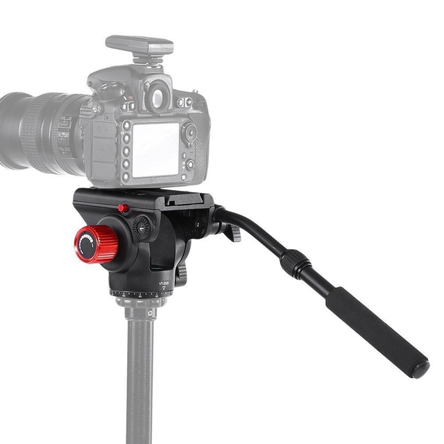 KINGJOY Vt 3520 360 degree Panoramic Tripod Fluid Drag Pan Head W/ Quick Release Plate