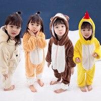 Boys And Girls Keep Warm Clothes Winter Thickening Children Pajamas Sets Sleepwear Baby