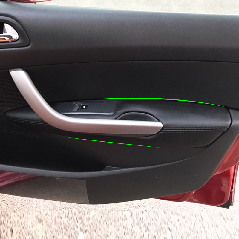 For <font><b>Peugeot</b></font> <font><b>408</b></font> 2010 2011 2012 2013 Car Interior Door Handle Panel <font><b>Armrest</b></font> Microfiber Leather Cover image
