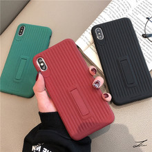 XINDIMAN Concise Bracket TPU phone case for iphone 7 backcover solid color 6 6s 6plus fundas iphoneX XS MAX XR 8 8plus