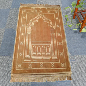 Image 5 - Fashion Soft and Comfortable Muslim Prayer Blanket 12mm Thickness Prayer Mat 70x110cm Anti Slip Carpet for Raschel Worship Rugs