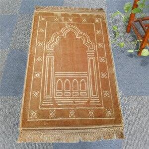 Image 5 - Mode Weich und Bequem Muslimischen Gebet Decke 12mm Dicke Gebet Matte 70x110cm Anti Slip Teppich für raschel Anbetung Teppiche