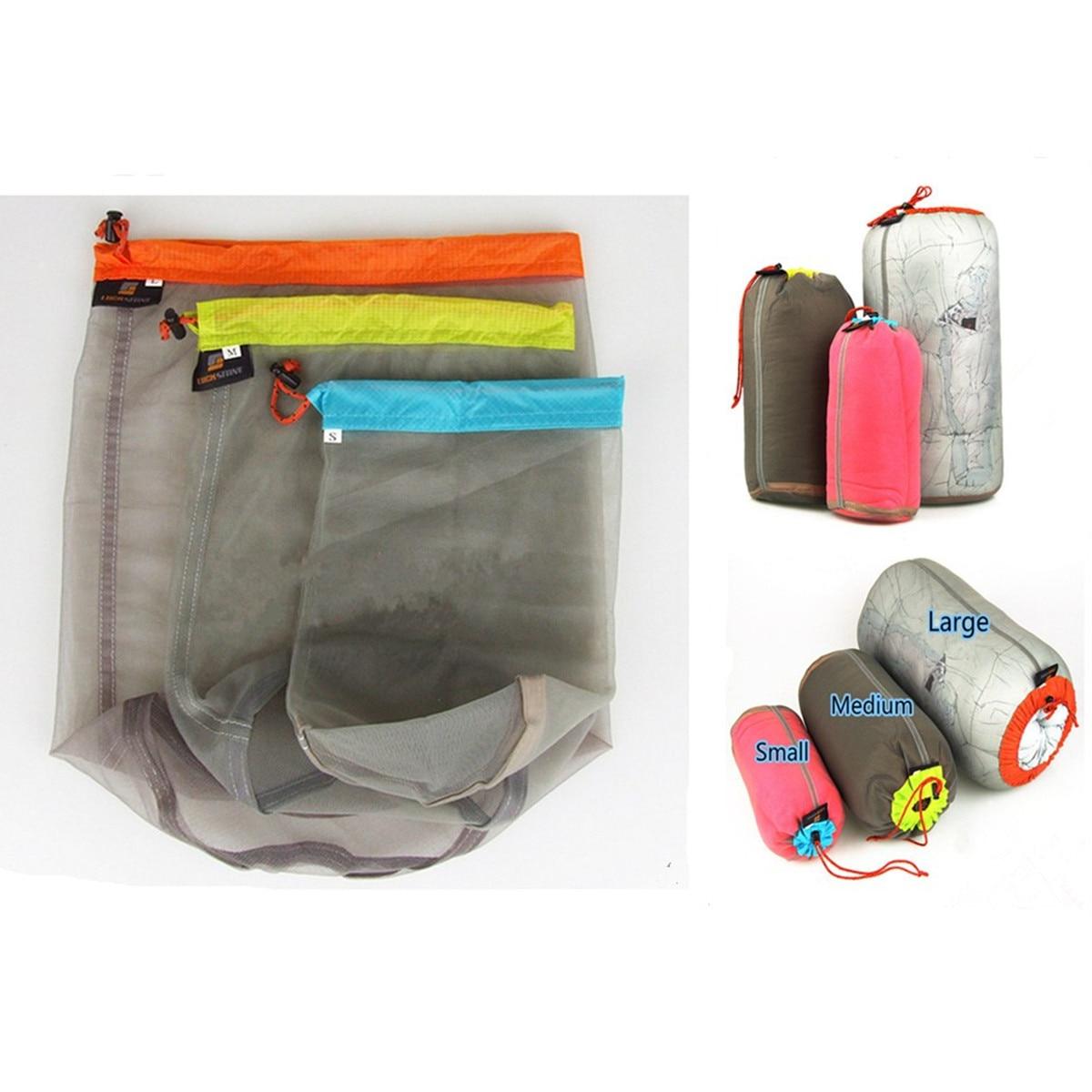 Hiking Storage Bag Sports Outdoors trip Ultralight Stuff Drawstring Bag Camping