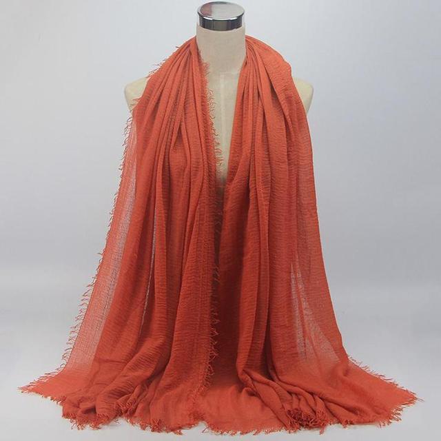 De Viaje ligero suave al aire libre cáñamo algodón bufanda bufandas sólido etc. casuales de moda para las mujeres