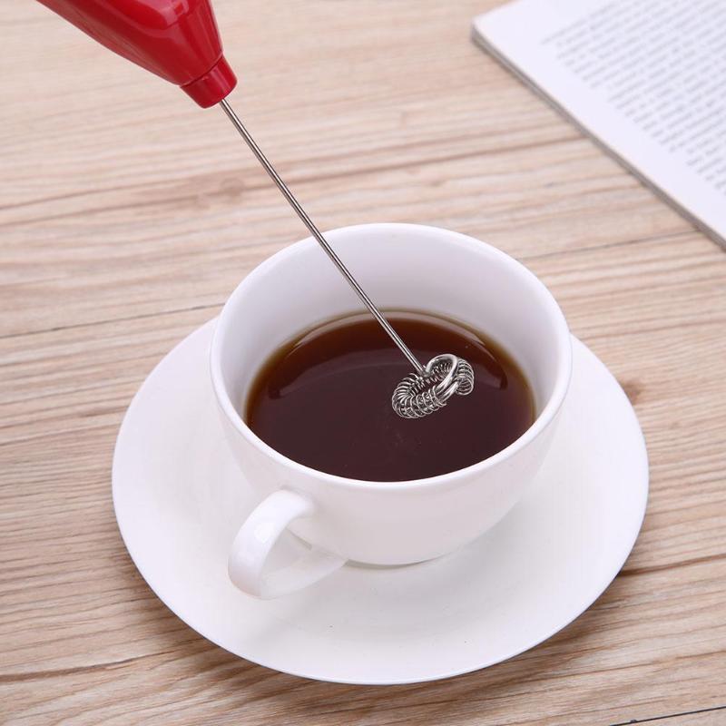 Mini Electric batiendo el huevo de acero inoxidable y pl/ástico ABS de caf/é herramienta de la cocina mezclador de espuma de caf/é bebida de leche Mezclador Agitador Inicio equipamiento que