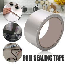 Aluminum Foil Tape Adhesive Sealing Tape Heating Duct Repairs Reflector Roll Tape 48mm x 17m Silver недорого