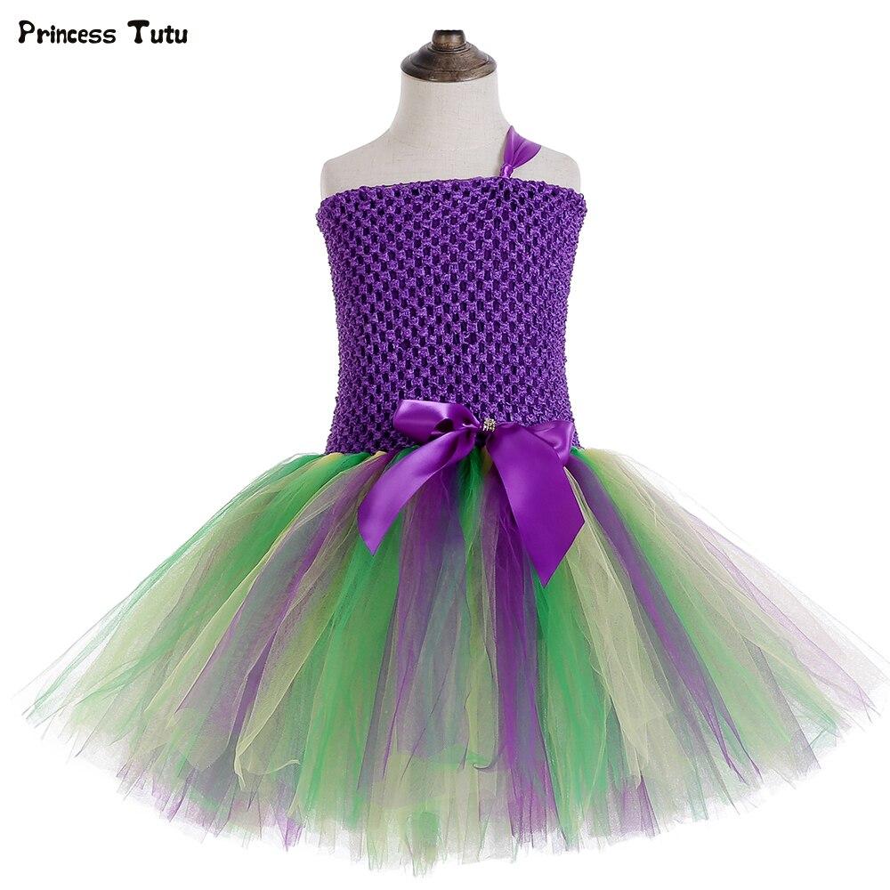 Little Mermaid Tutu Dress Under The Sea Birthday Theme Party Dress for Kids Girl Holiday Carnival Halloween Princess Costume 1