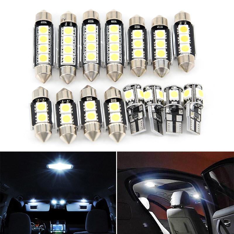 15Pcs White Car Interior LED Lights Kit For B/MW 5 Series E60 E61 M5 Replacement Repair Dome / Map / Door / License Plates Light15Pcs White Car Interior LED Lights Kit For B/MW 5 Series E60 E61 M5 Replacement Repair Dome / Map / Door / License Plates Light
