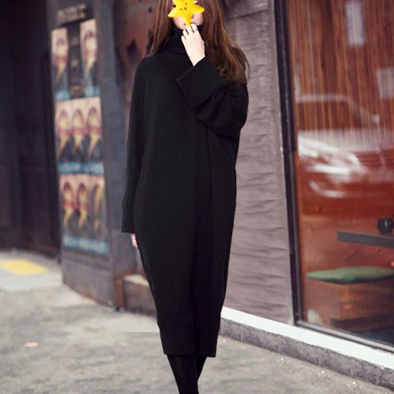 Décontracté Élastique Oc766 Pour À Nouveau Femme Col Robe Haut Robes Manches Hiver Mode Lâche ewq Printemps 2019 Marée Longues Black Vêtement f7pxnHq