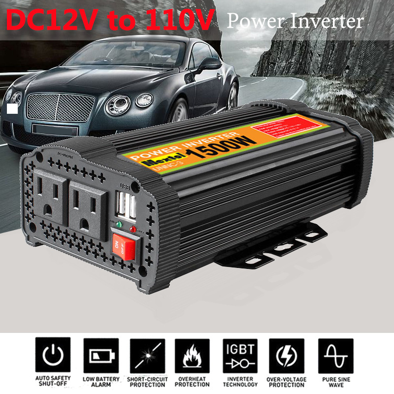 цена на Inverter 12V 110V 3000W Peaks Auto Modified Sine Wave Voltage Transformer Power Inverter Converter Car Charge USB
