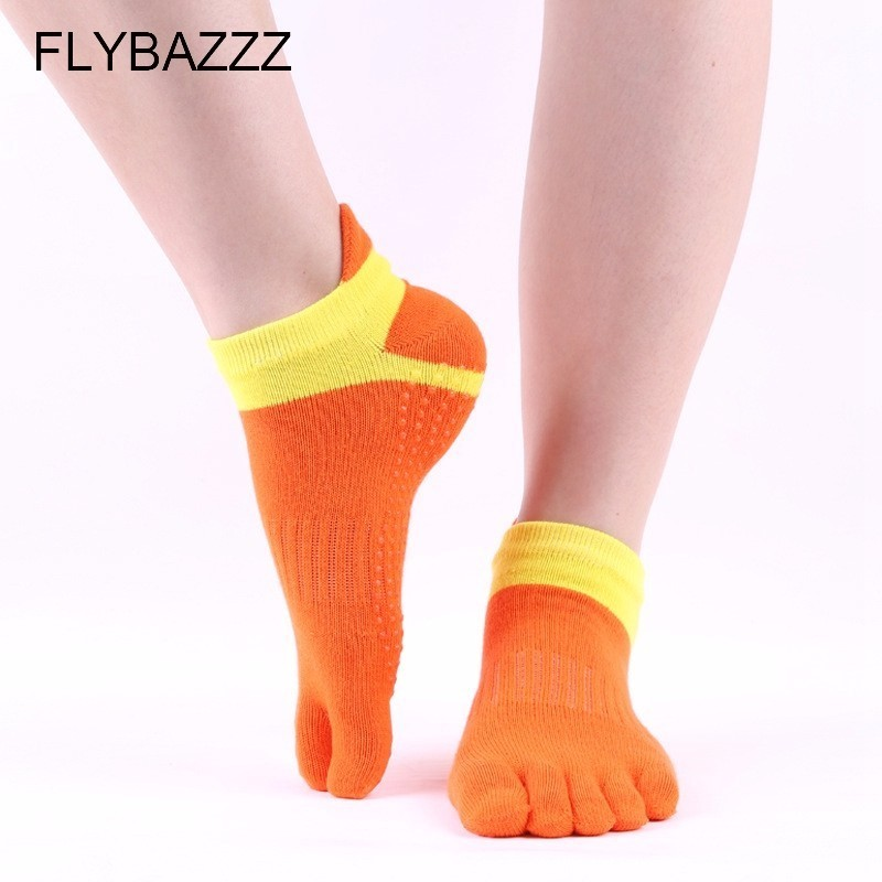 Women Professional High Quality Fitness Yoga Socks Anti Slip Rubber Dot Sports Indoor Outdoor Exercise Latex Pilates