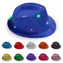 Unisex Brilliant Glitter Sequin Jazz Cap Dance Show Party Sequins Hat Birthday Party Cap W