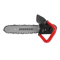 11.5 Inch Chainsaw Refit Conversion Kit Chain Saw Stand Bracket Set Change Angle Grinder into Chain Saw Woodworking Power Tool