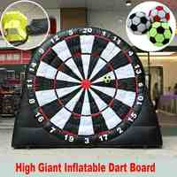 3 Meter High Inflatable Football Dart Board Sport Games Soccer Giant Inflatable Dart Board With 220V Air Blower Outdoor Game Toy