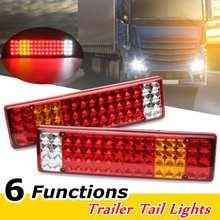 Светодиодный шт светодиодные лампы задние фонари 6 функций для Scania-Mercedes Man Daf Ranault-Volvo Iveco 24 V