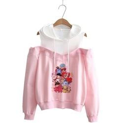 Hoodie kpop Hoodies Women Femele Pullover cartoon Sweatshirts For female k pop Highstreet K-pop Hooded 2