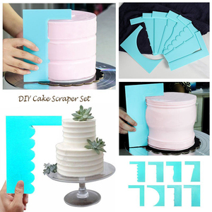 Image 1 - Scraper Smoother  Baking Supply 1pc New Spatula  Cake Decoration Pastry Edge 8 Style Fondant Fashion Plastic  Mousse