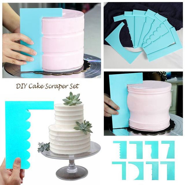 Scraper Smoother  Baking Supply 1pc New Spatula  Cake Decoration Pastry Edge 8 Style Fondant Fashion Plastic  Mousse