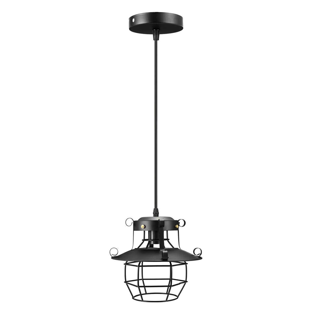 Винтажный легкий металлический приспособления для промышленного освещения клетка Эдисона скандинавского Ретро Лофт лампа домашний декор подвесной светильник