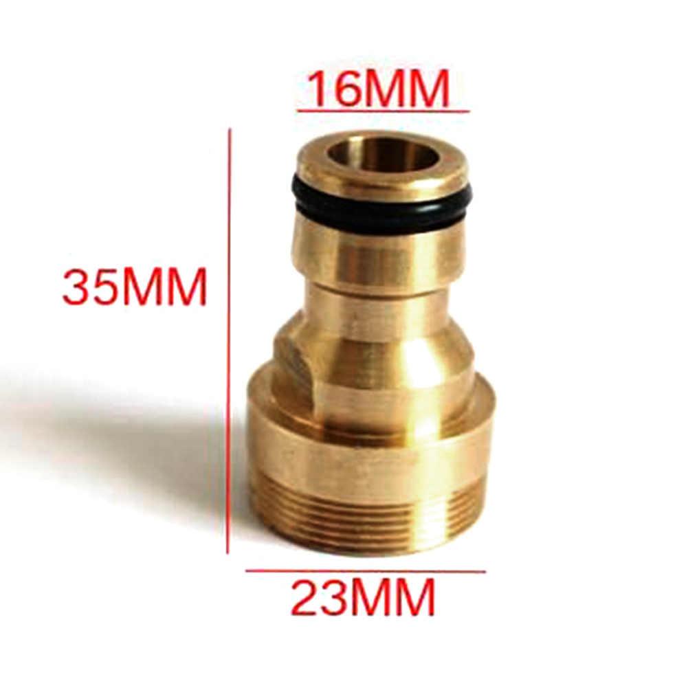 LVOERTUIG 23 ミリメートルホースクイックコネクタ真鍮ねじ庭の水継手タップアダプタ (ゴールド)