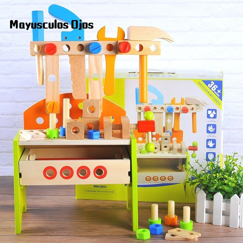 Wooden Multi-tools Baby Assembled Repair Kit Children's Early Education Play Educational Toys
