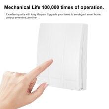 EWeLink לדחוף כפתור קיר אור מתג מרחוק בקר 1/2/3 כנופיית 86 סוג 433 MHz אלחוטי RF שלט רחוק חכם בית סלון