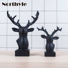 American style Reindeer head statue resin reindeer head figurine christmas reindeer decoration xmas gift reindeer art craft