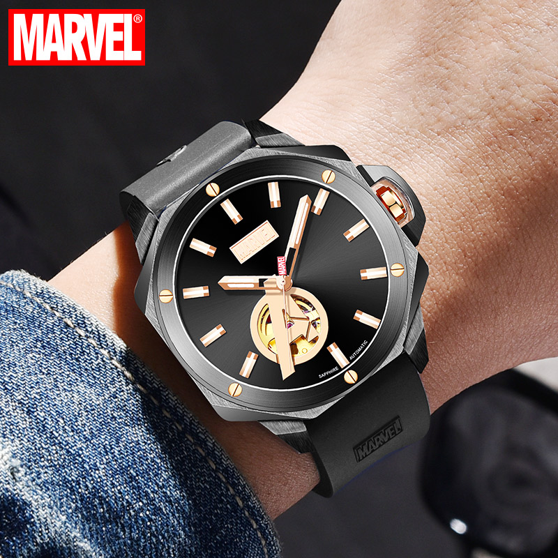 Disney Marvel Watch Avengers Personality Waterproof Teen Student Automatic Mechanical Tide Mens WatchDisney Marvel Watch Avengers Personality Waterproof Teen Student Automatic Mechanical Tide Mens Watch