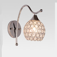 Modern Iron Crystal Living Room Wall Lamps Led Lamps Bedroom Study Led E27 Bulb Wall Lamp Led Lustre Silver Wall Lighting Z30
