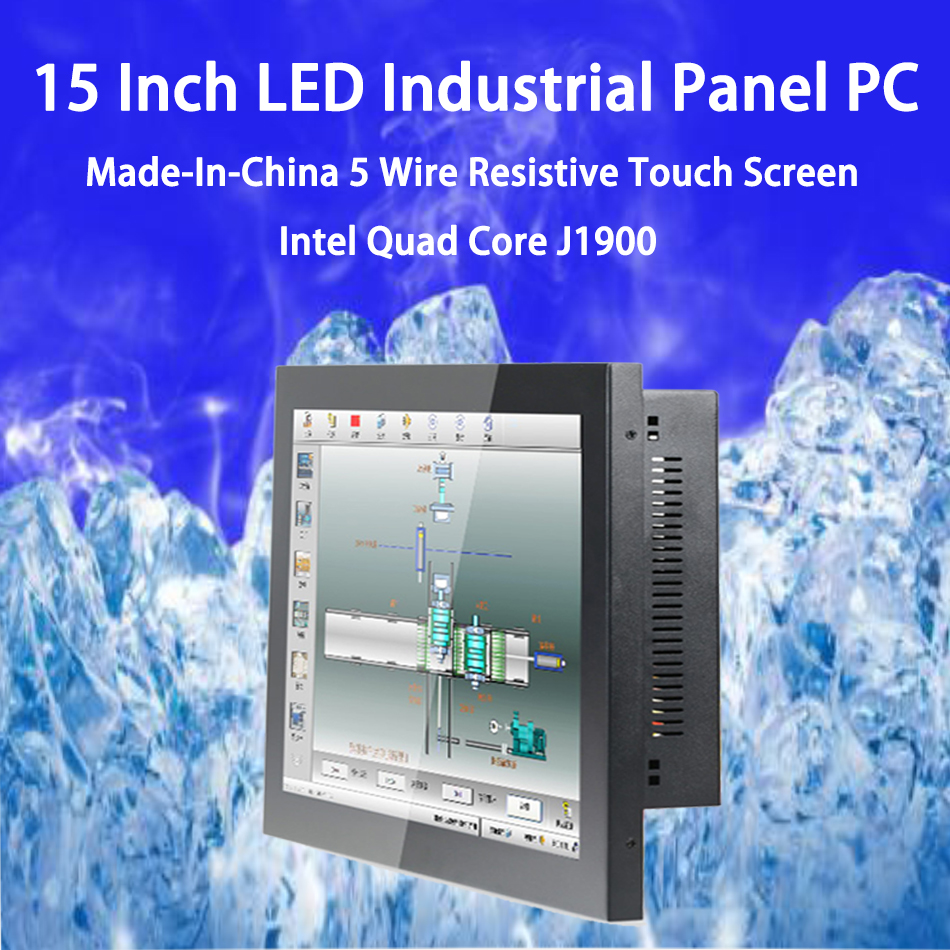 15 Inch LED Industrial Panel PC ,5 Wire Resistive Touch Screen,Intel Celeron J1900,Support Win10 Or Linux Ubuntu,[DA08W]