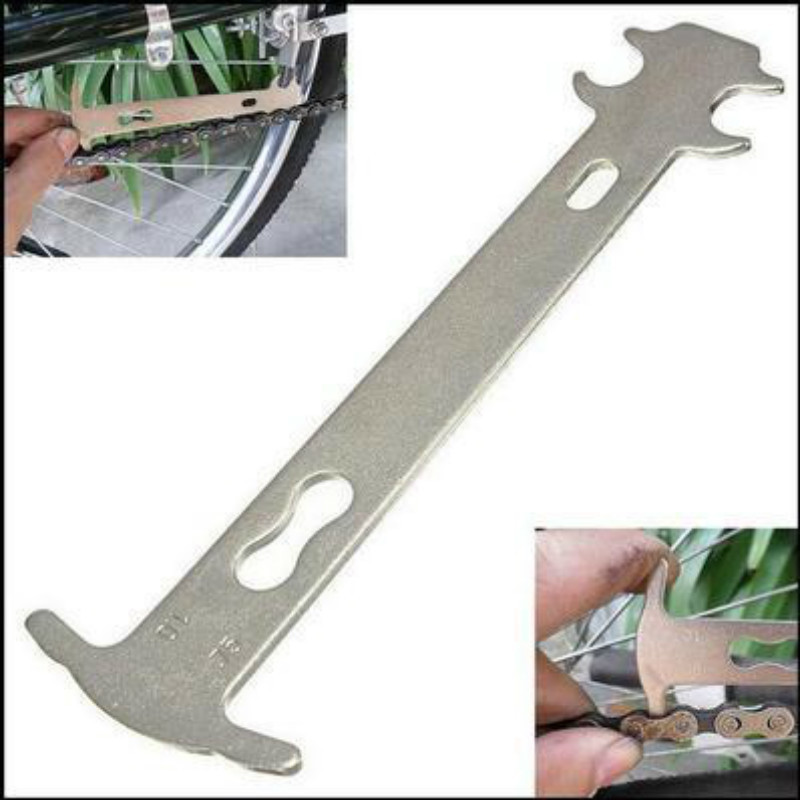 Ruler Bicycle-Chain Checker Gauge-Measurement Wear-Indicator Repair-Tool Cycling-Replacement