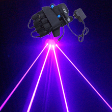 Фиолетовые лазерные перчатки оборудование для сцены лазерные танцевальные проекты светящиеся перчатки