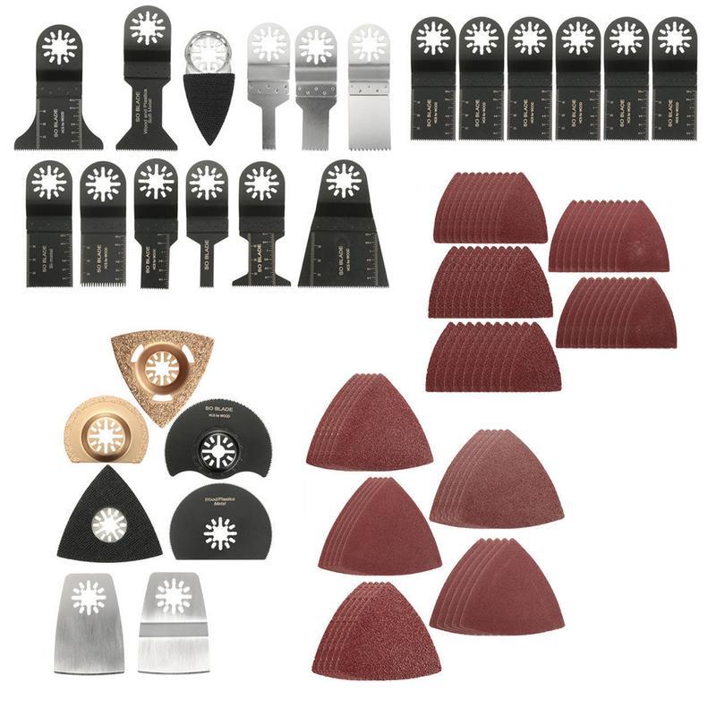 100Pcs Diamond Saw Blade Plunge Saws Blades High Accurate Universal Oscillating Multitool CuttingTool Accessories Kit