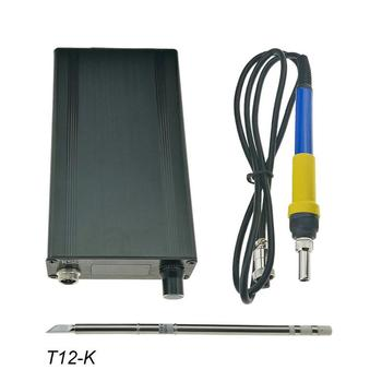 5b026131141c T12 V3.0 STM32 OLED Digital controlador de temperatura de soldadura  Estación de soldadura barras de hierro T12-K B2 BC2 D24 electrocauterio  Apparat