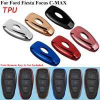 Funda protectora para llaves de coche de TPU de 6 colores para Ford Fiesta para Focus C-MAX 2011 2012 2013 2018
