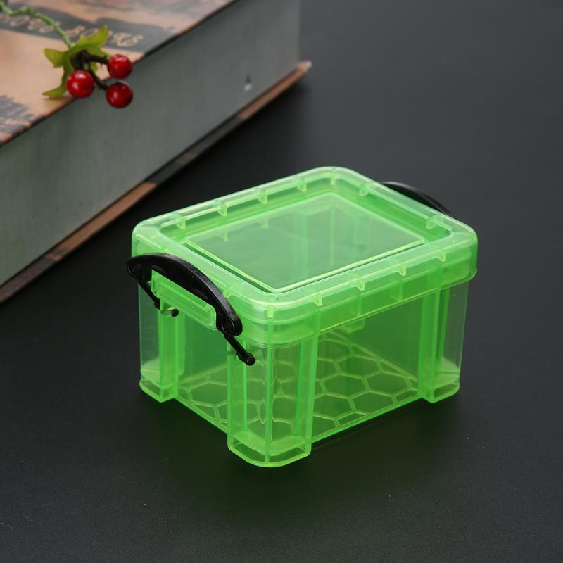 Cute Mini Desktop Box Case Rhinestone Jewelry Diamond Painting Nail Art Drill Storage Container Home Office Organizer Box