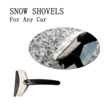 Winter Car Window Cleaning Snowplow Tool Windshield Snow Removal Scraper Ice Shovel image