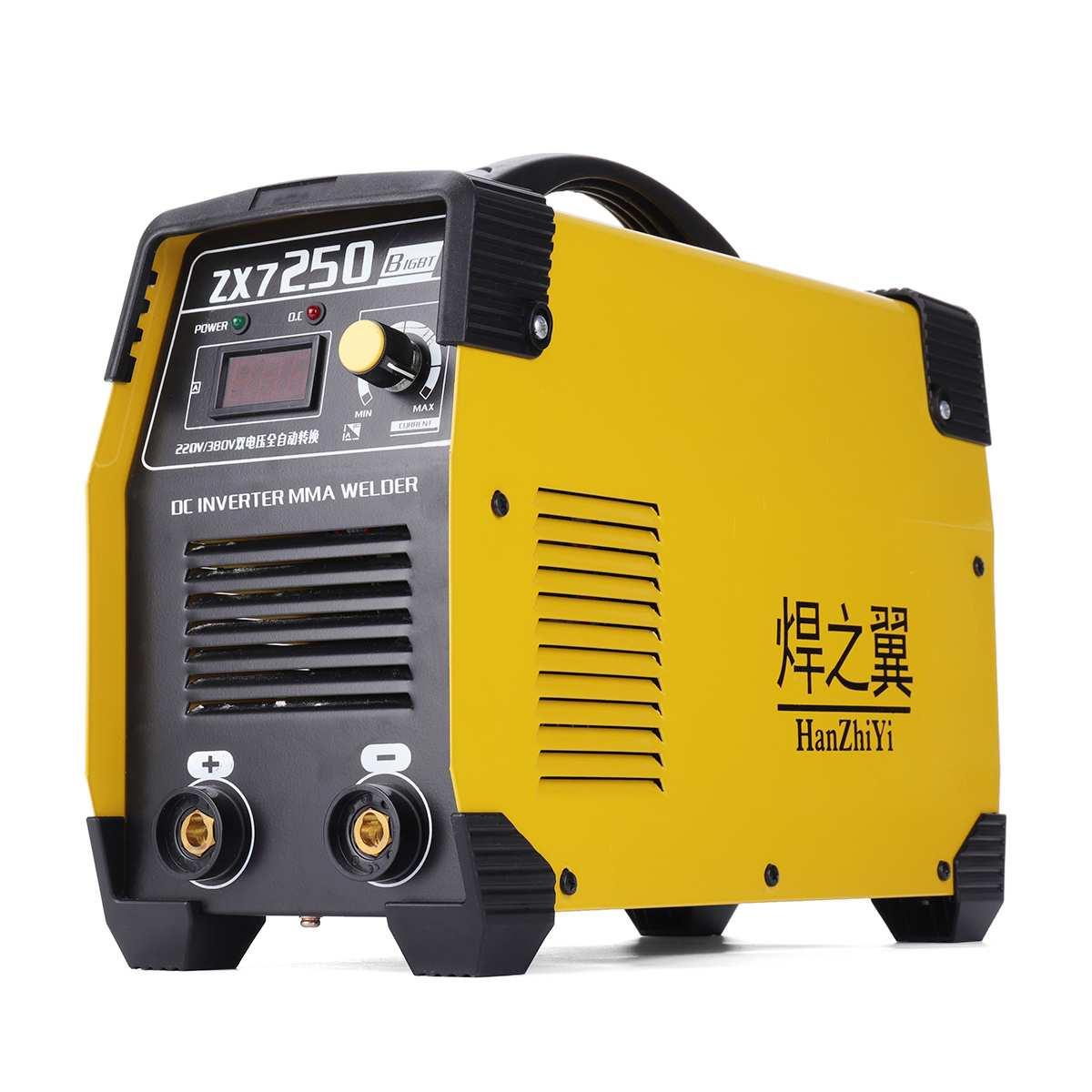ZX7 250 IGBT 220/380V Mini Portable Inverter DC Welders Welding Machine 20 250A Manual Welding Equipment Tools Welders Yellow