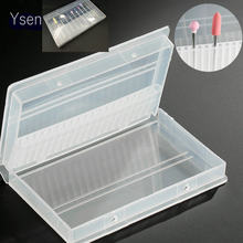 "1PC 20 Holes Plastic Transparent Nail Drill Bits Acrylic Box Display Stand Container for 3/32"" Bit Drill Exhibition Tool(China)"