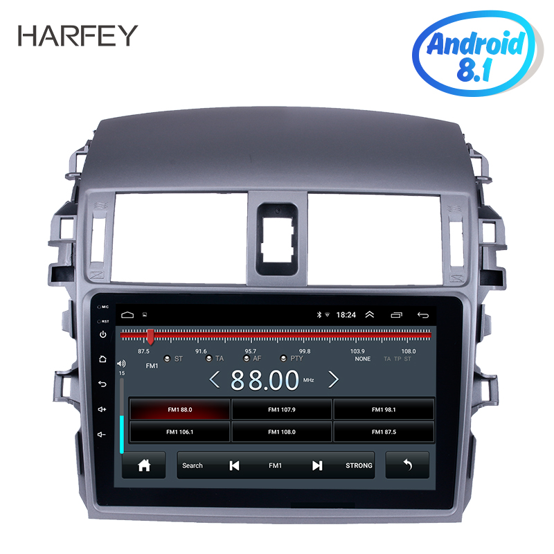 Harfey Android 8.1 Audio GPS Car Stereo 9 inch 2Din Head Unit Multimedia Player For 2007 2008 2010 Toyota OLD Corolla Bluetooth-in Car Multimedia Player from Automobiles & Motorcycles    1