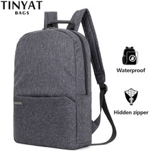TINYAT Men Laptop Backpack for 15 ''Computer Mochila Escloar Waterproof School Backpack Bag for teenage Canvas Shoulder Backpack(China)