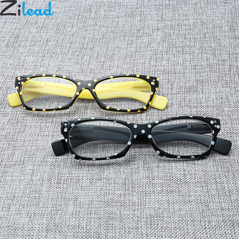 Zilead Ultralight Dot Reading Glasses Women Anti Fatigue Clear Lens Presbyopic Glasses Eyewear+1.0to+3.5 Unisex