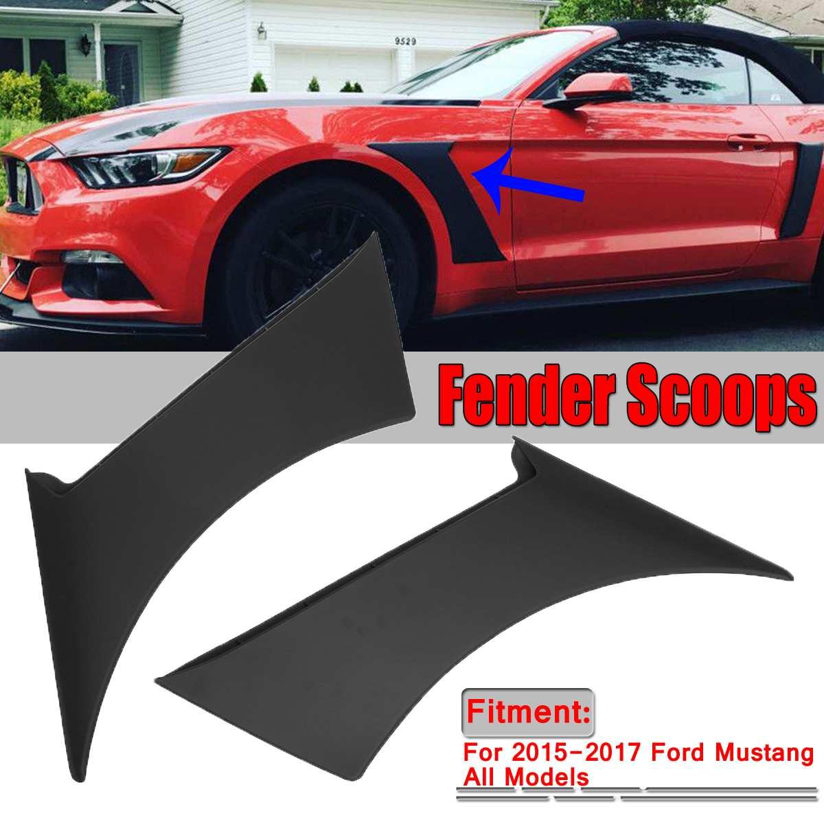 Une paire de voiture côté avant pour garde-boue porte écopes cadre couverture pour Ford pour Mustang GT350 Style 2015-2017 voiture pour garde-boue écopes couverture