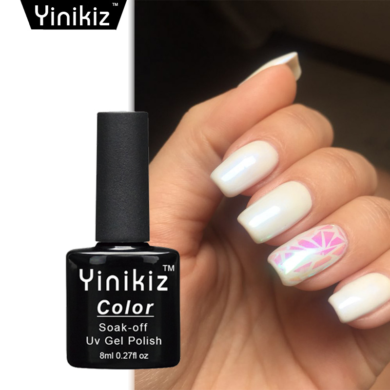 Yinikiz Soak Off Glitter Pearl Color Gel Polish Led Uv Nail Polishes Lacquer Translucent Pink In From Beauty Health On Aliexpress
