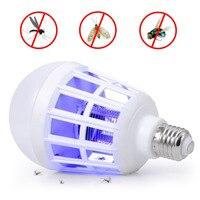 1 pc 2 em 1 lâmpada led armadilha elétrica mosquito assassino luz e27 220 v eletrônico anti inseto bug led lâmpadas da noite ca|Repelentes| |  -