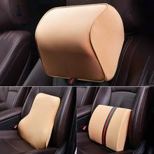 Подголовник автомобиля подушки детские 3D пены памяти средства ухода за кожей Шеи Rest сиденье задний Поясничный автомобиля Pad Авто
