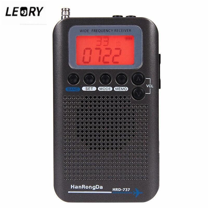 Flight Tracker Leory New Aircraft Band Radio Receiver Vhf Tragbare Full Band Radio Fm Am Recorder Cb Sw Air Radio Empfänger Mit Kopfhörer Radio