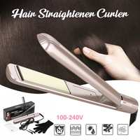 Curling Hair Steam Function Flat Iron Tourmaline Ceramic Vapors Professional Hair Straightener Straightening Irons Curling iron
